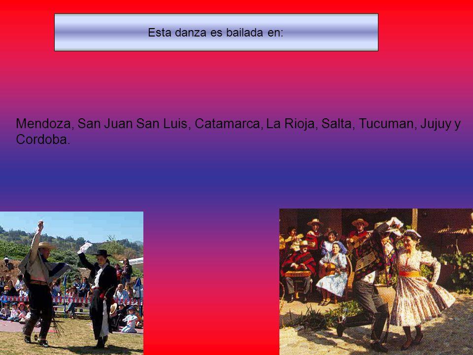 Esta danza es bailada en: