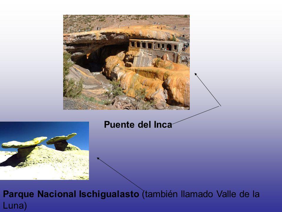 Puente del Inca Parque Nacional Ischigualasto (también llamado Valle de la Luna)