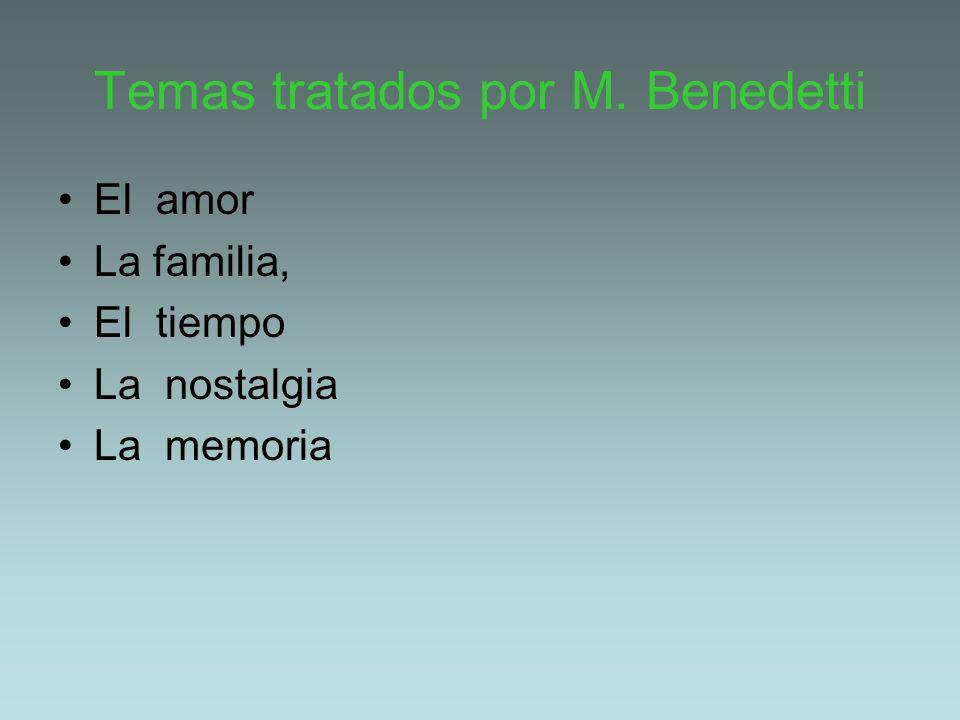 Temas tratados por M. Benedetti