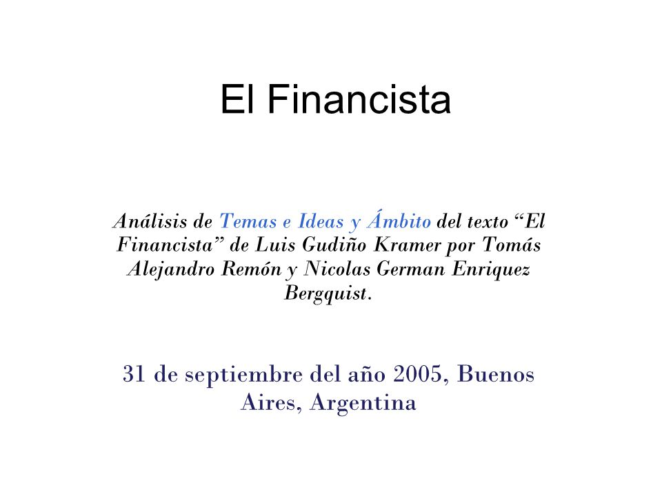 31 de septiembre del año 2005, Buenos Aires, Argentina