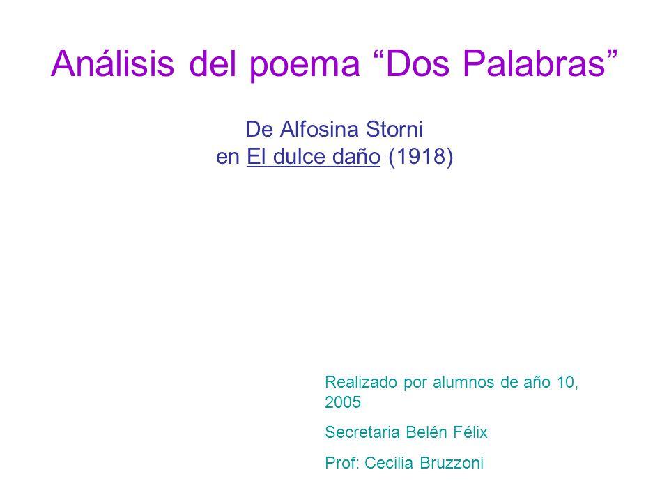 Análisis del poema Dos Palabras