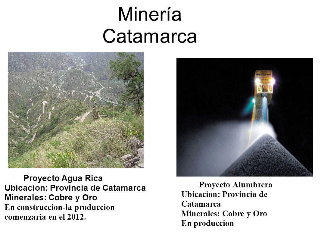 Minería Catamarca Proyecto Agua Rica Ubicacion: Provincia de Catamarca