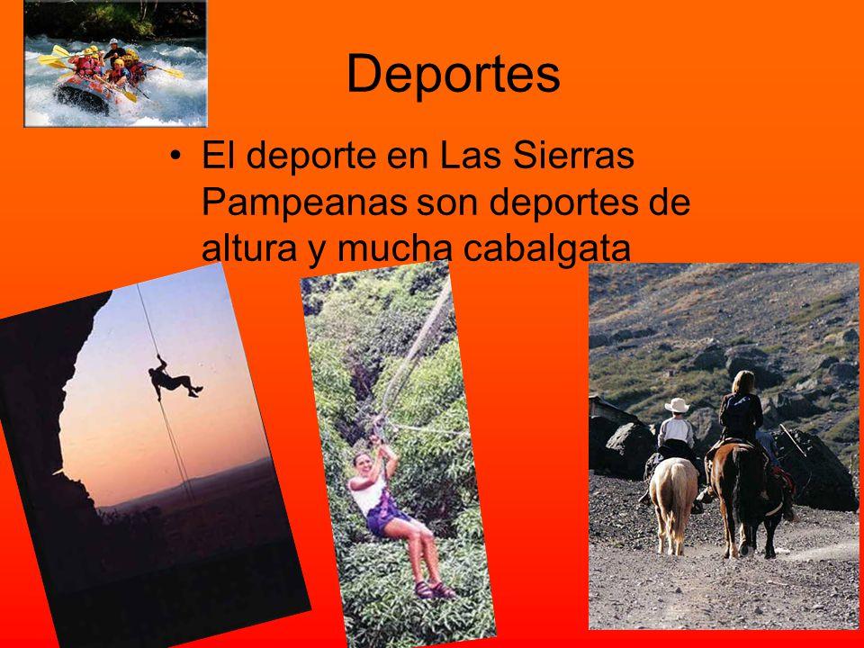 Deportes El deporte en Las Sierras Pampeanas son deportes de altura y mucha cabalgata