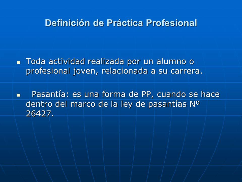 Definición de Práctica Profesional