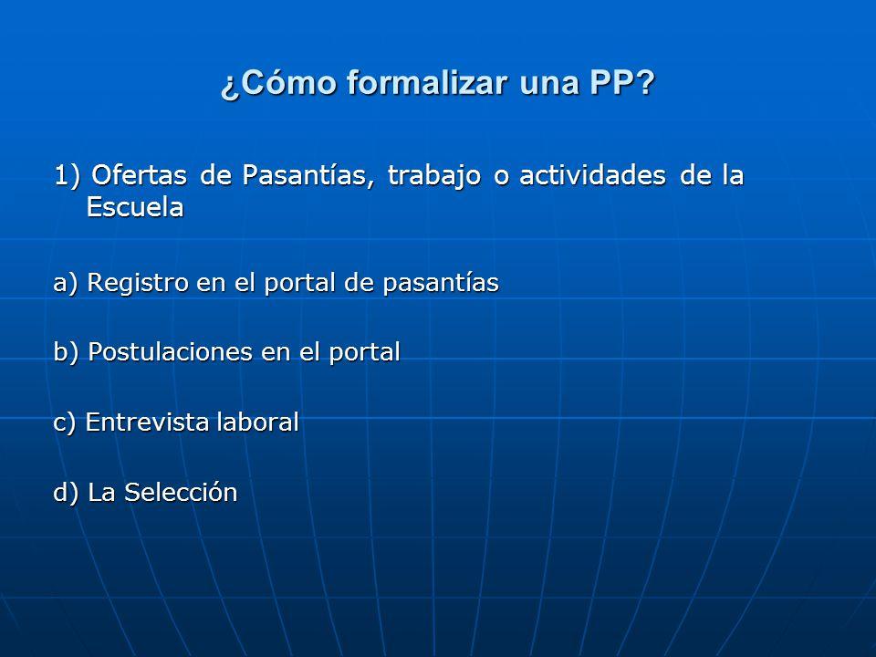 ¿Cómo formalizar una PP