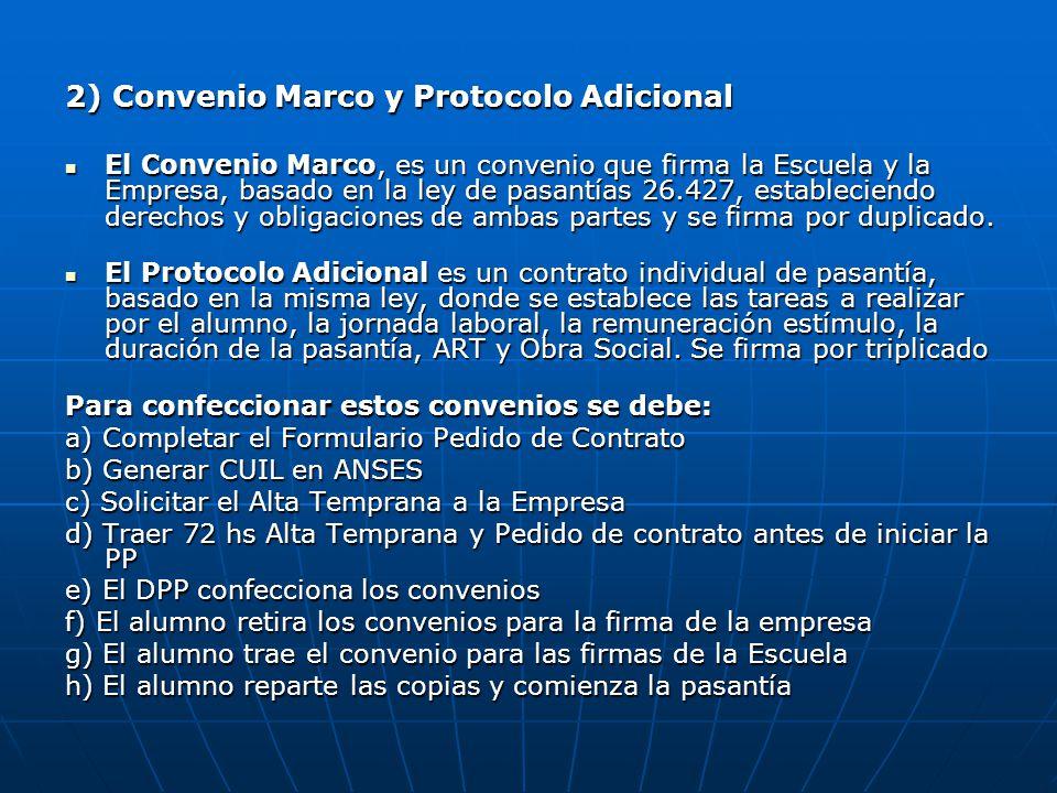 2) Convenio Marco y Protocolo Adicional