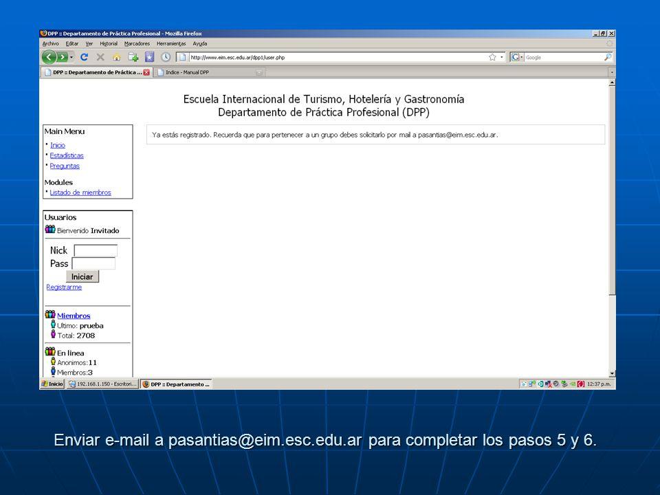 Enviar e-mail a pasantias@eim. esc. edu