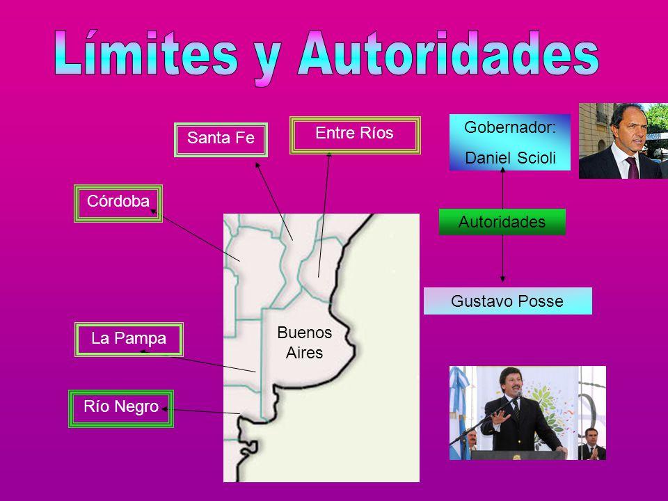 Límites y Autoridades Gobernador: Daniel Scioli Entre Ríos Santa Fe