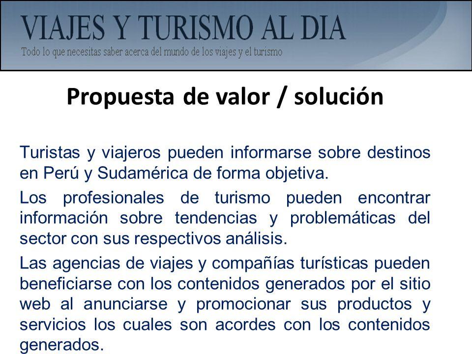 Propuesta de valor / solución