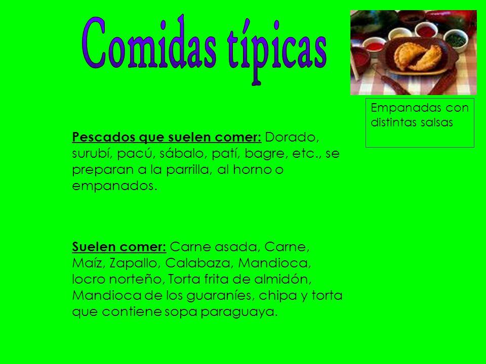 Comidas típicas Empanadas con distintas salsas.