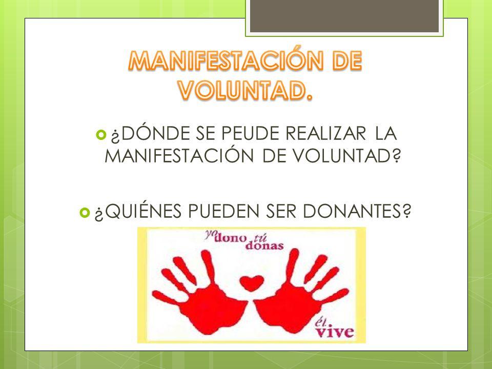 MANIFESTACIÓN DE VOLUNTAD.
