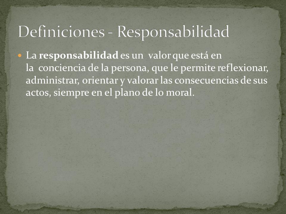 Definiciones - Responsabilidad