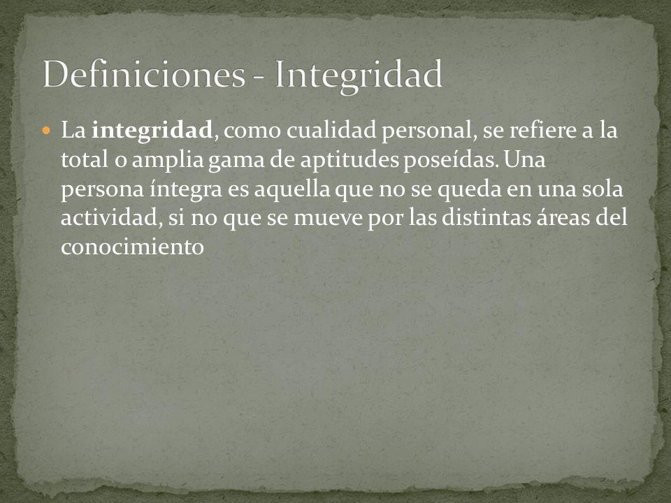 Definiciones - Integridad