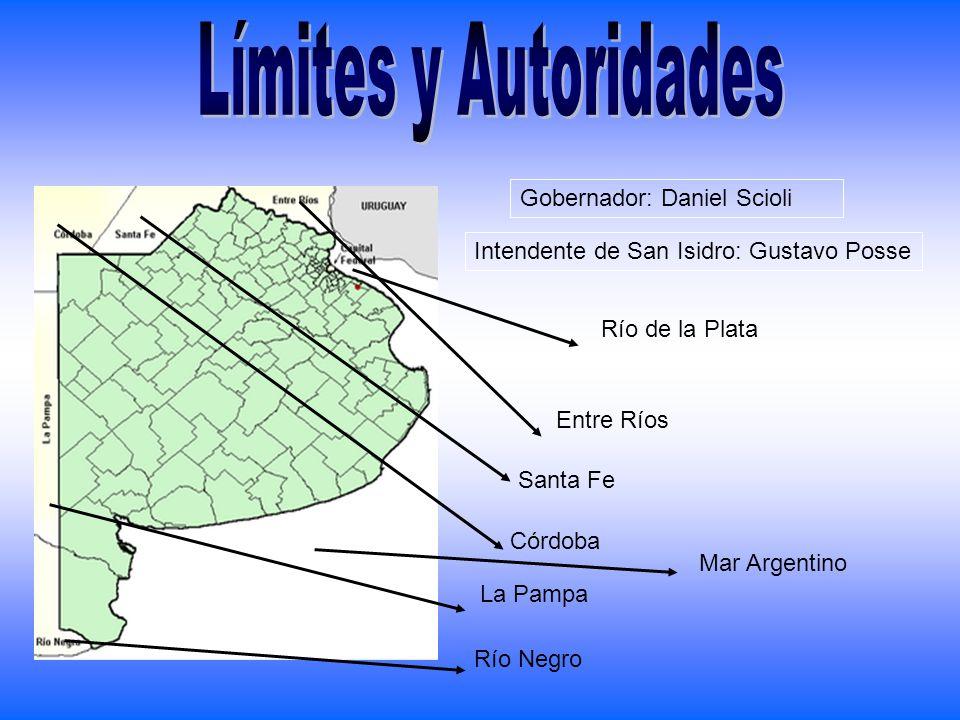 Límites y Autoridades Gobernador: Daniel Scioli