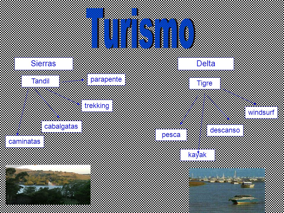Turismo Sierras Delta parapente Tandil Tigre trekking windsurf
