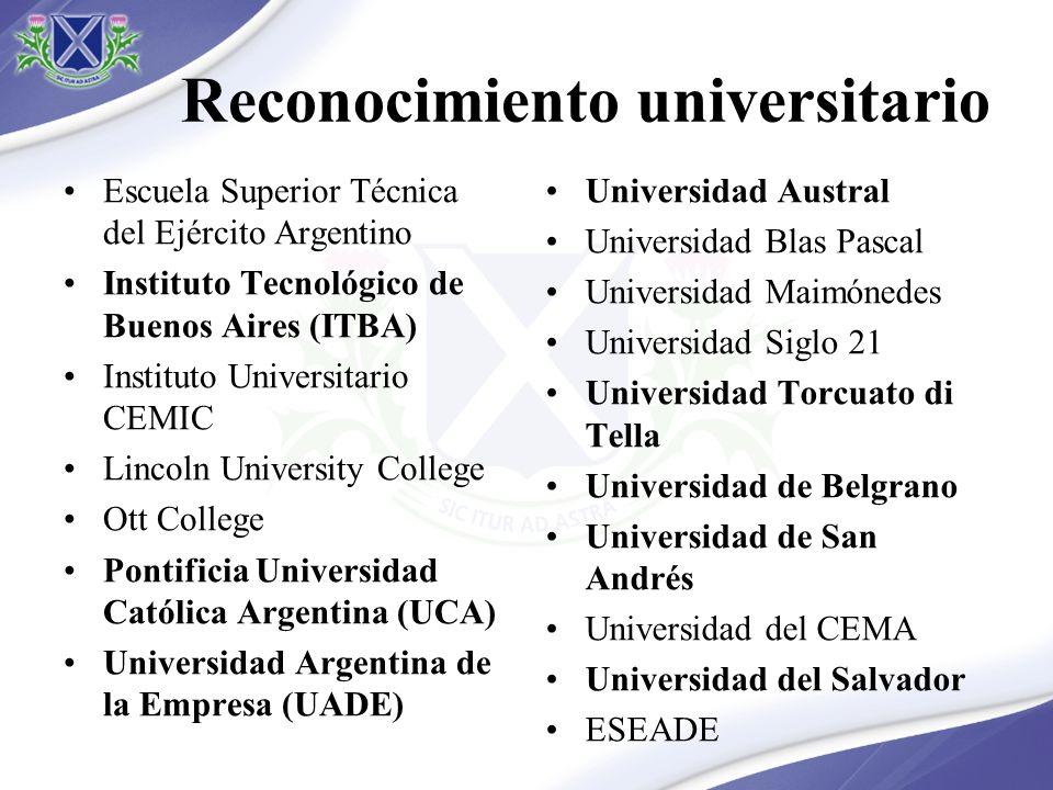 Reconocimiento universitario