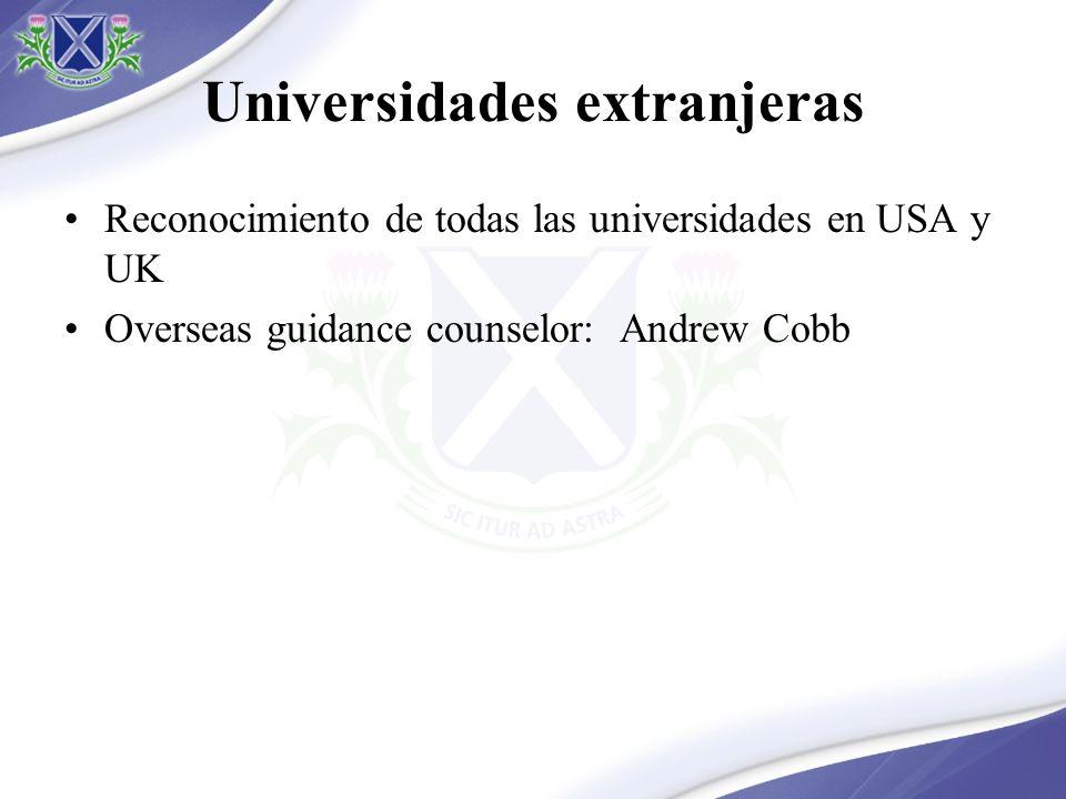 Universidades extranjeras