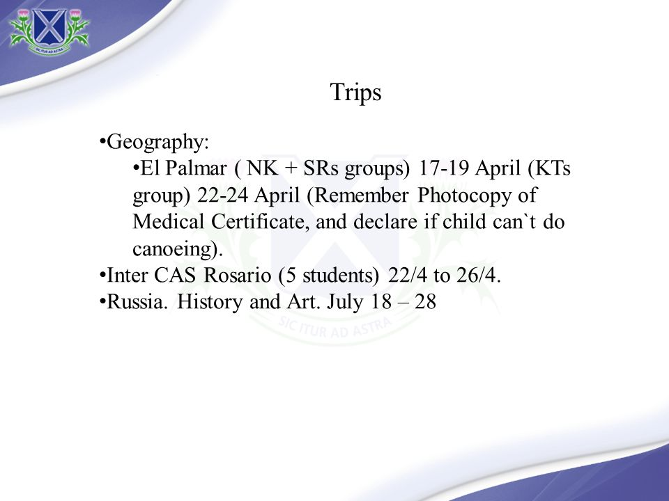 Trips Geography: