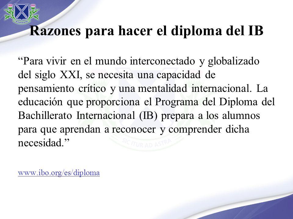 Razones para hacer el diploma del IB