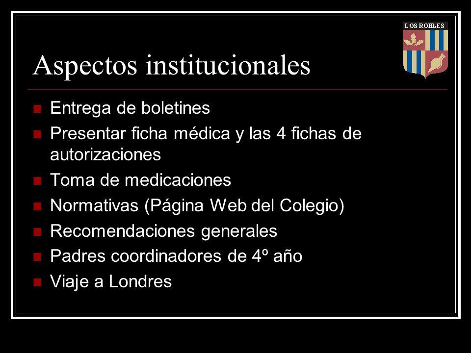 Aspectos institucionales