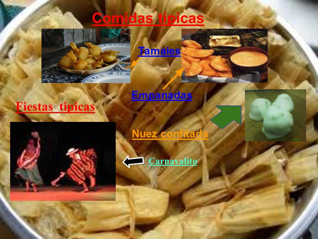 Comidas tipicas Fiestas tipicas Tamales Empanadas Nuez confitada
