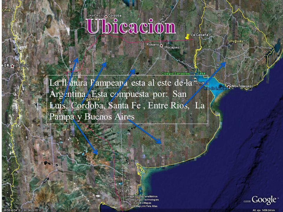 Ubicacion La llanura Pampeana esta al este de la Argentina.