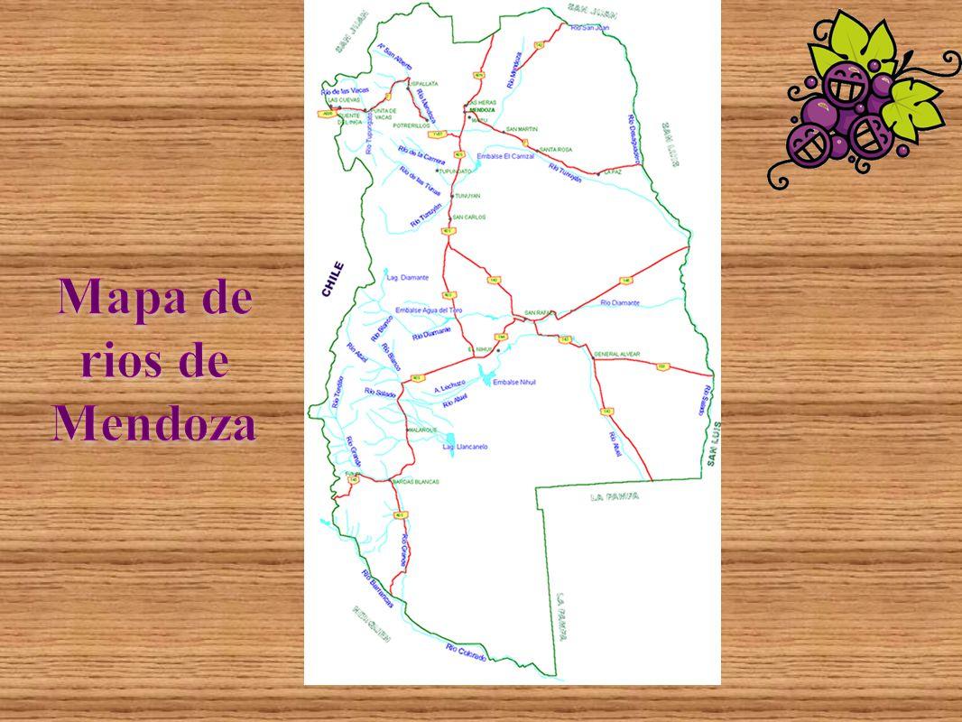 Mapa de rios de Mendoza