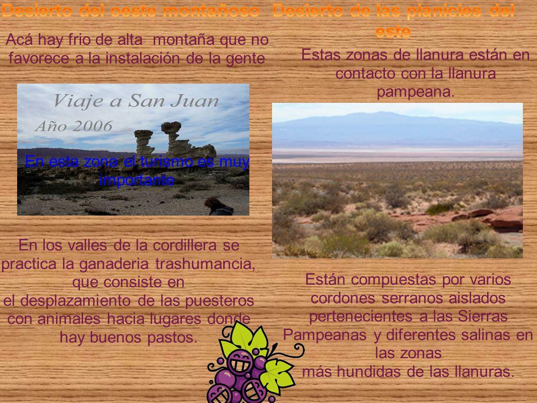 Desierto del oeste montañoso Desierto de las planicies del este