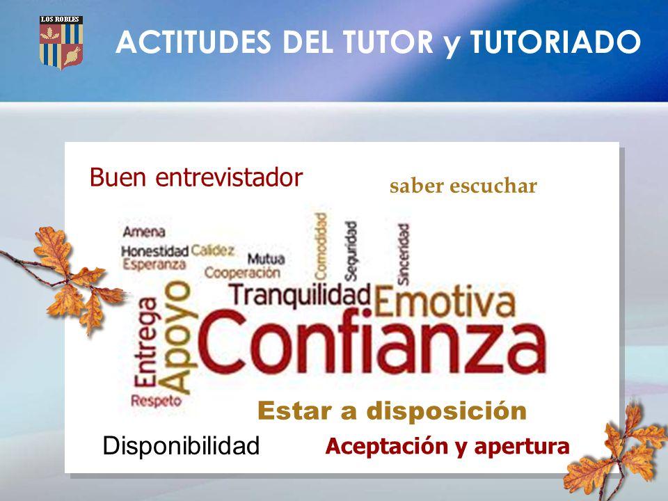 ACTITUDES DEL TUTOR y TUTORIADO