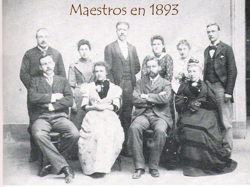 Maestros en 1893