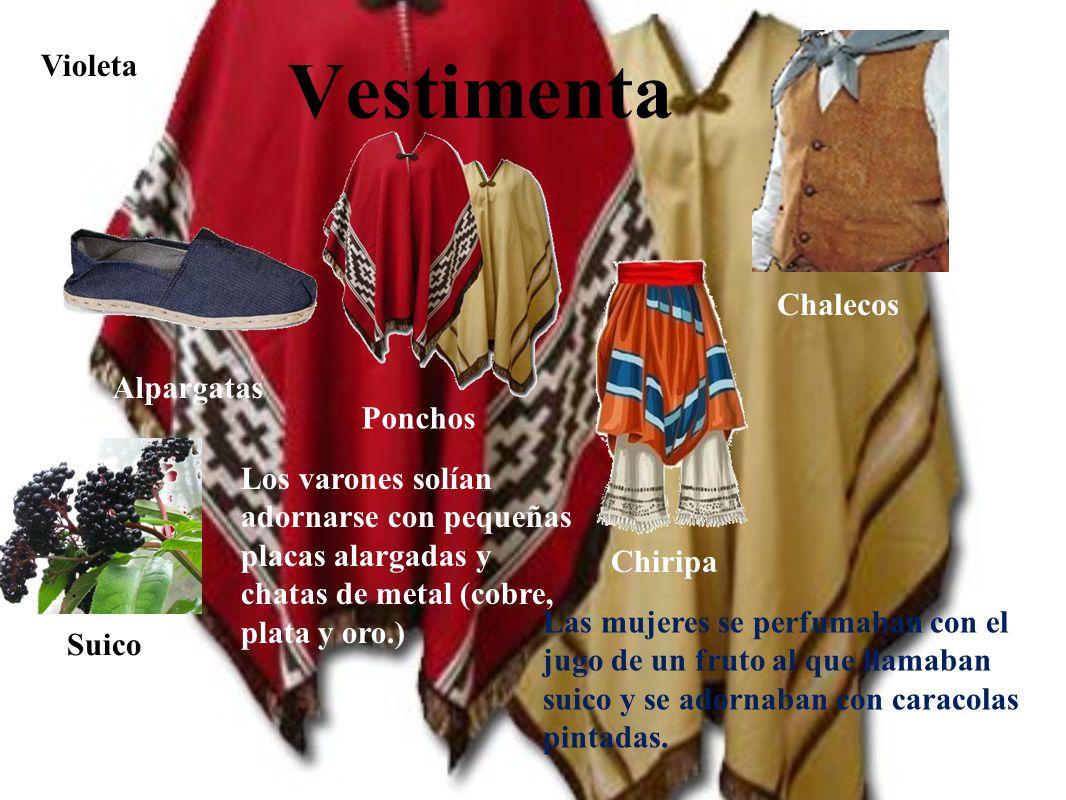 Vestimenta Violeta Chalecos Alpargatas Ponchos