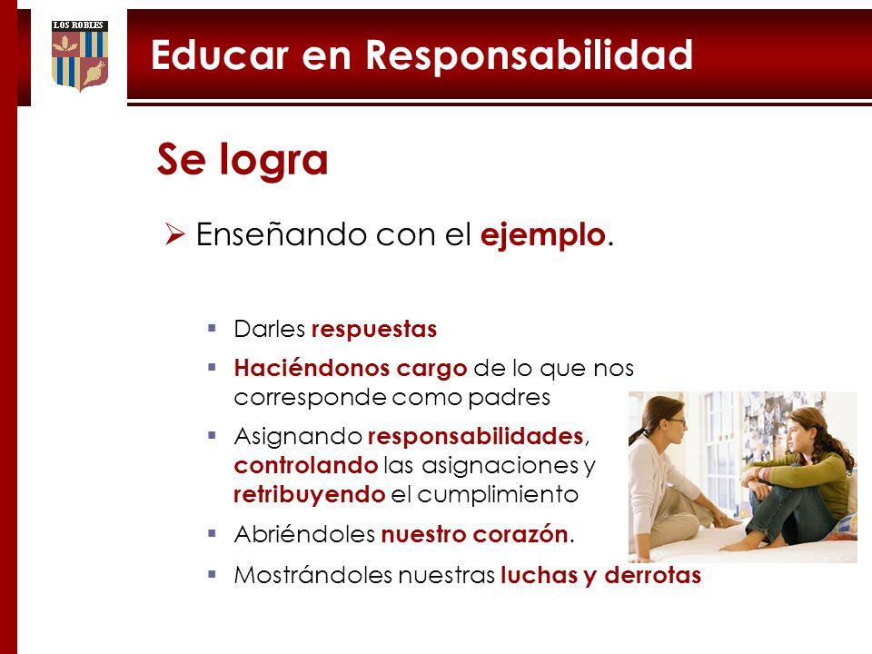 Educar en Responsabilidad