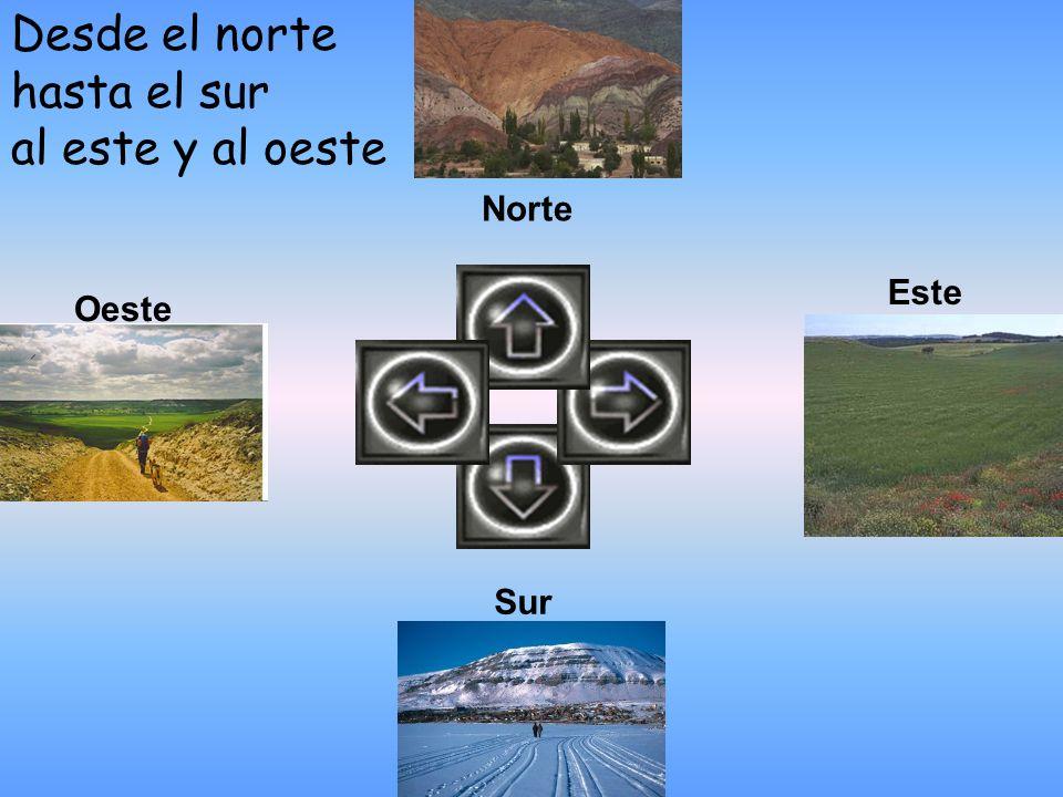 Desde el norte hasta el sur al este y al oeste
