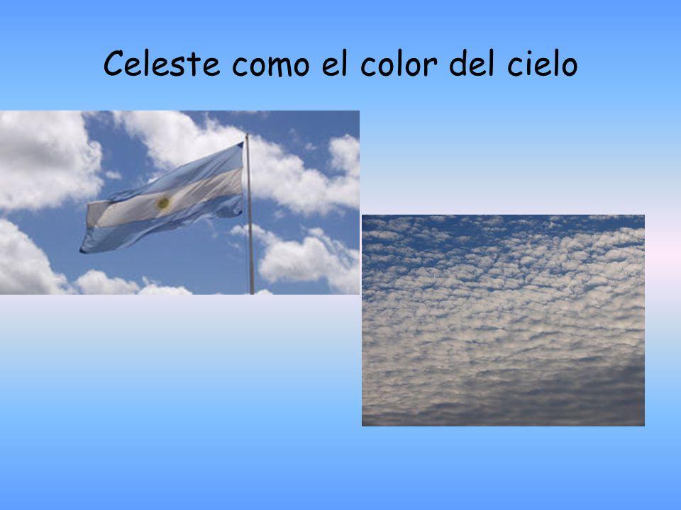 Celeste como el color del cielo