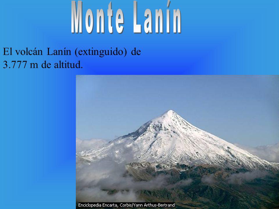 Monte Lanín El volcán Lanín (extinguido) de 3.777 m de altitud.