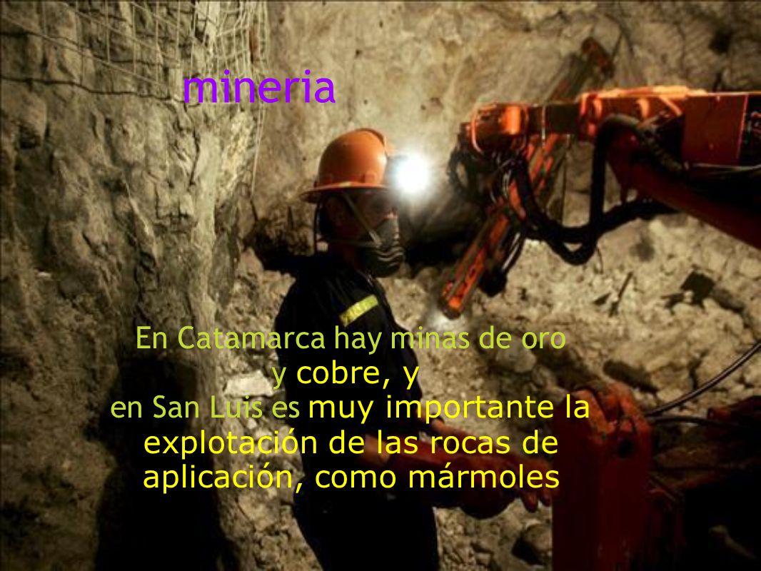 En Catamarca hay minas de oro y cobre, y