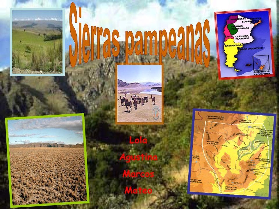 Sierras pampeanas Lola Agustina Marcos Mateo