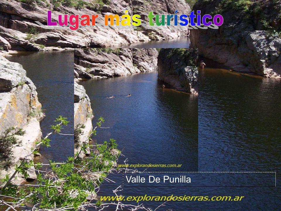 Lugar más turístico Valle De Punilla