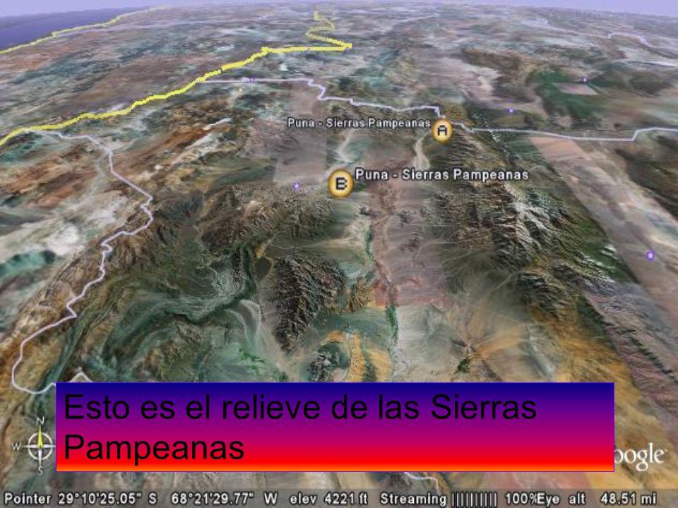Esto es el relieve de las Sierras Pampeanas