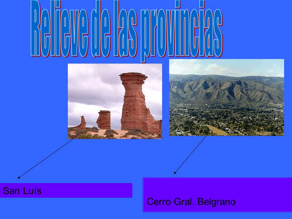 Relieve de las provincias