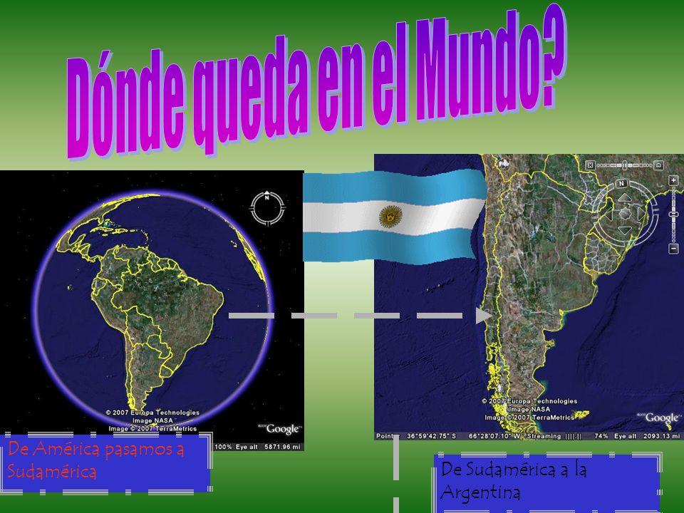 Dónde queda en el Mundo De América pasamos a Sudamérica