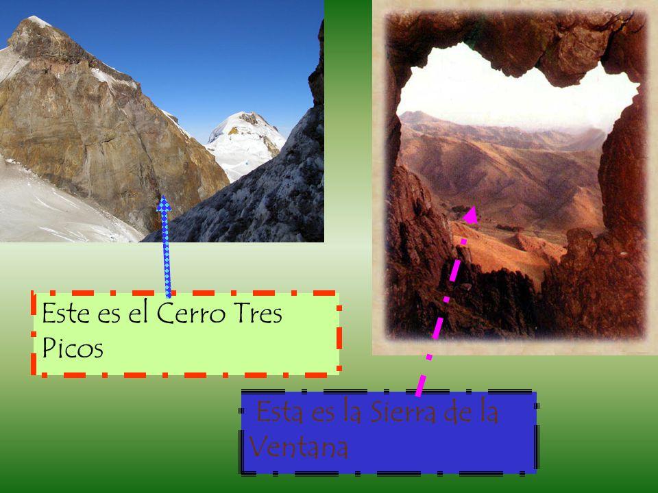 Este es el Cerro Tres Picos