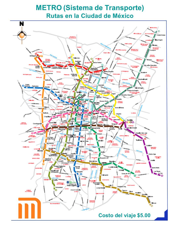 METRO (Sistema de Transporte) Rutas en la Ciudad de México