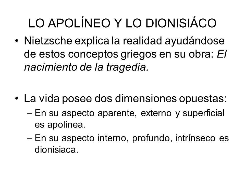 LO APOLÍNEO Y LO DIONISIÁCO