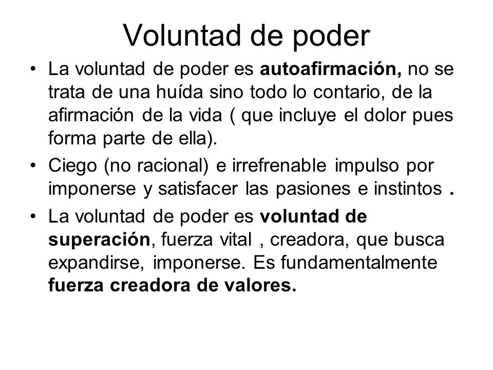 Voluntad de poder