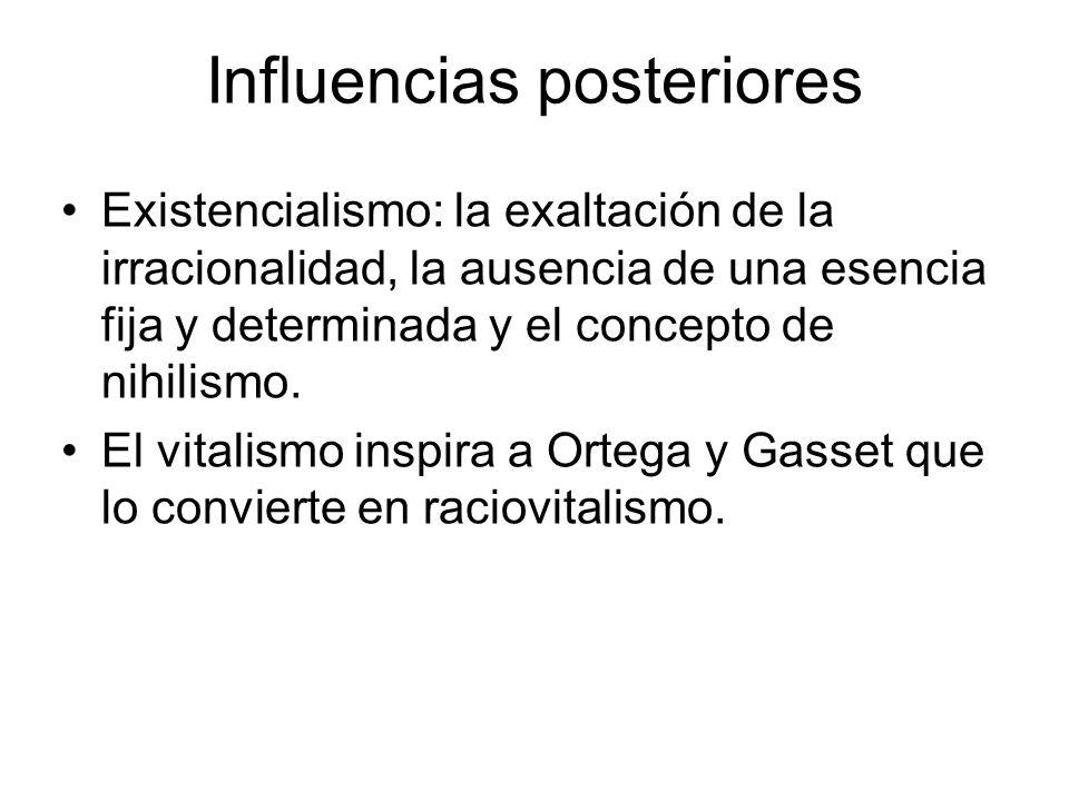 Influencias posteriores