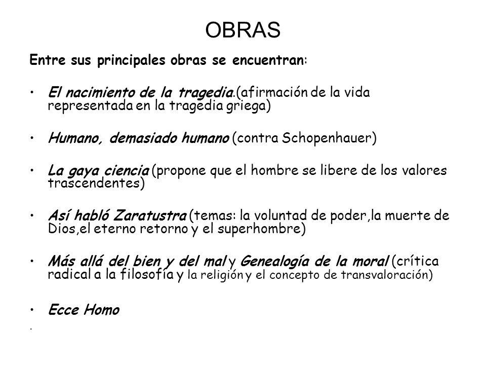 OBRAS Entre sus principales obras se encuentran: