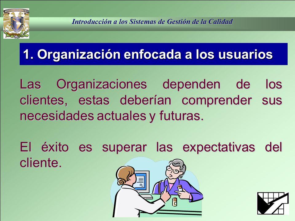 1. Organización enfocada a los usuarios