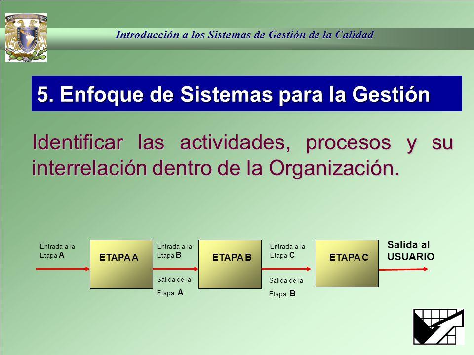 5. Enfoque de Sistemas para la Gestión