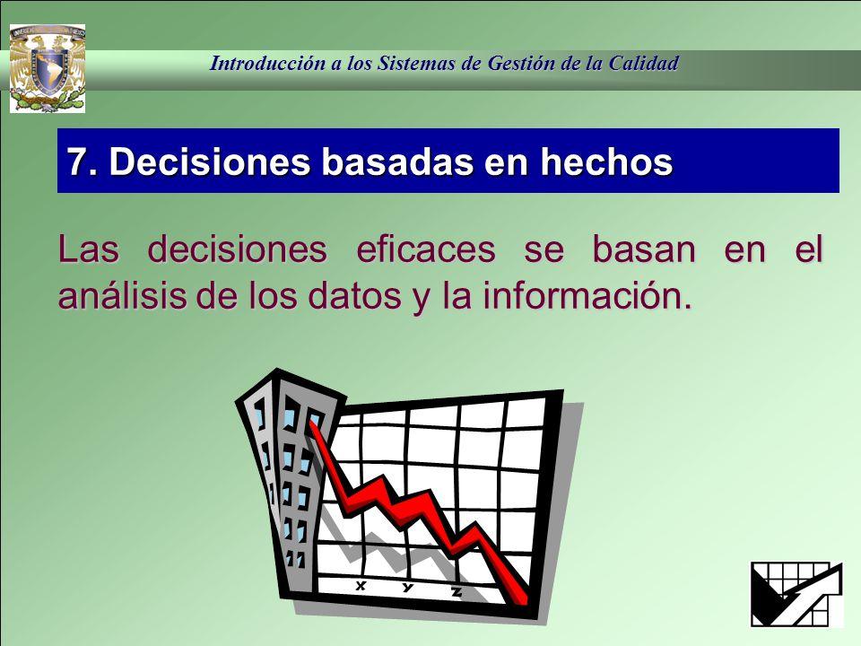 7. Decisiones basadas en hechos